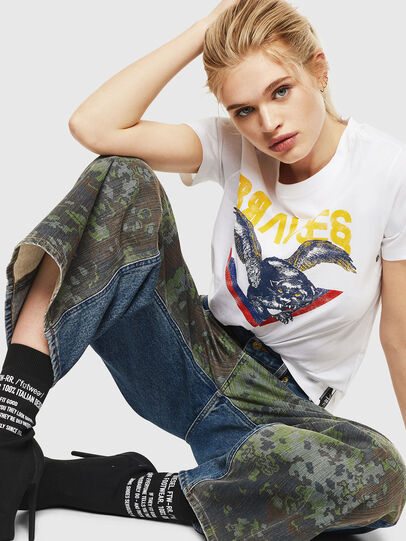 Diesel - T-SILY-WP, White - T-Shirts - Image 4