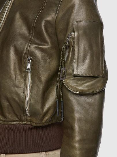 Diesel - L-ELIA, Olive Green - Leather jackets - Image 4