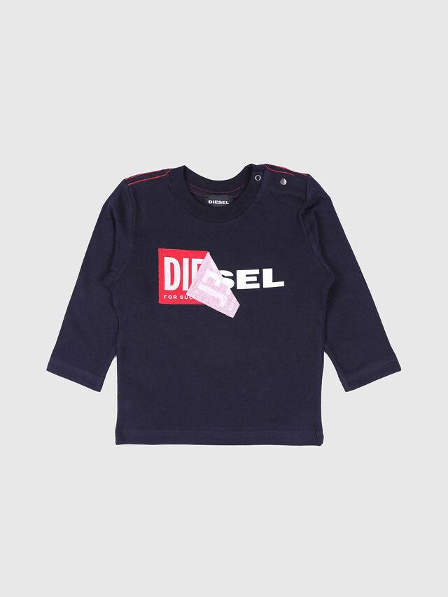 Diesel - TOQUEB, Navy Blue - T-shirts and Tops - Image 1