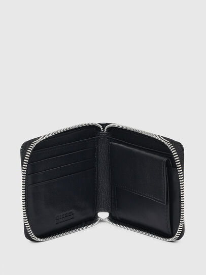 Diesel - HIRESH XS ZIPPI, Black - Zip-Round Wallets - Image 3