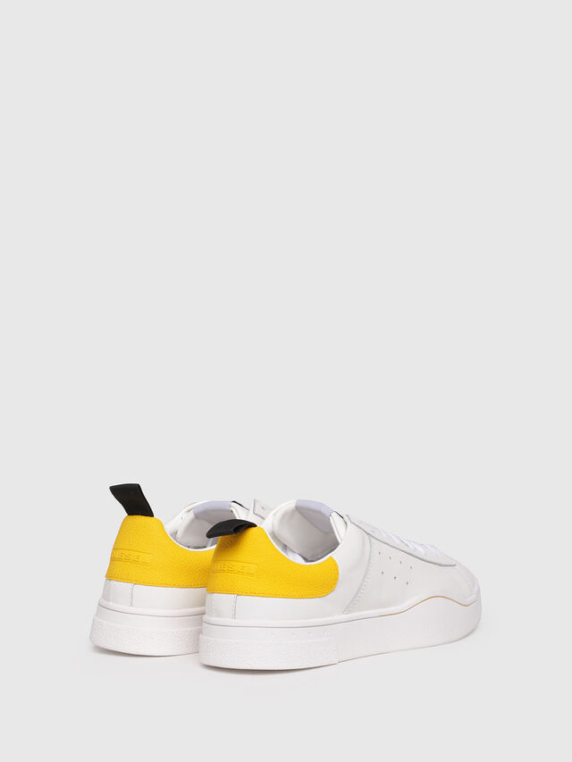 Diesel - S-CLEVER LOW, White/Yellow - Sneakers - Image 3