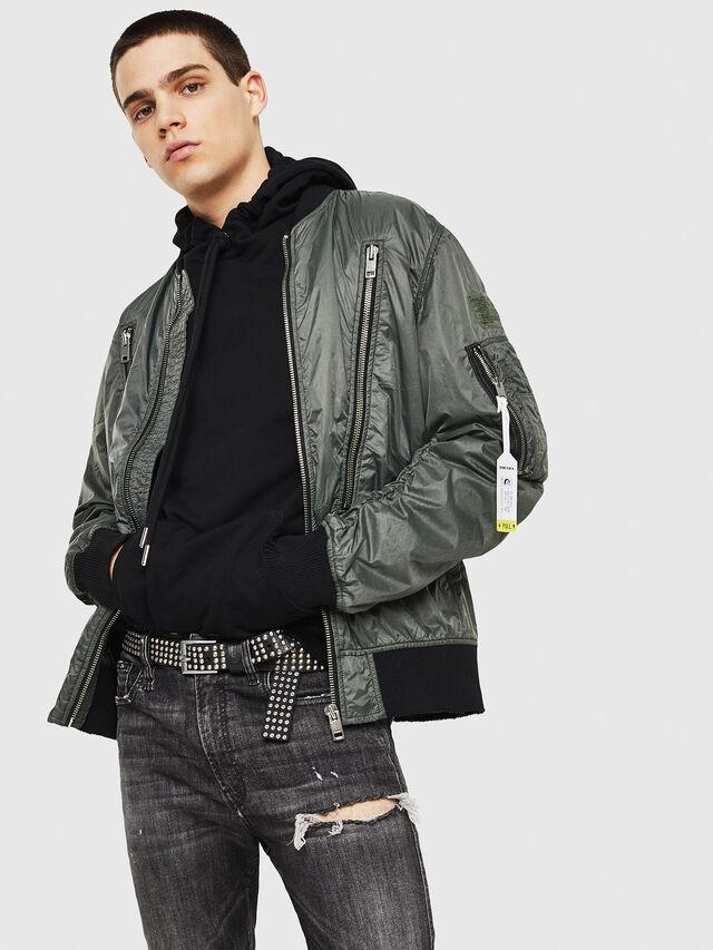 Diesel - J-TOSHIO, Dark Green - Jackets - Image 5