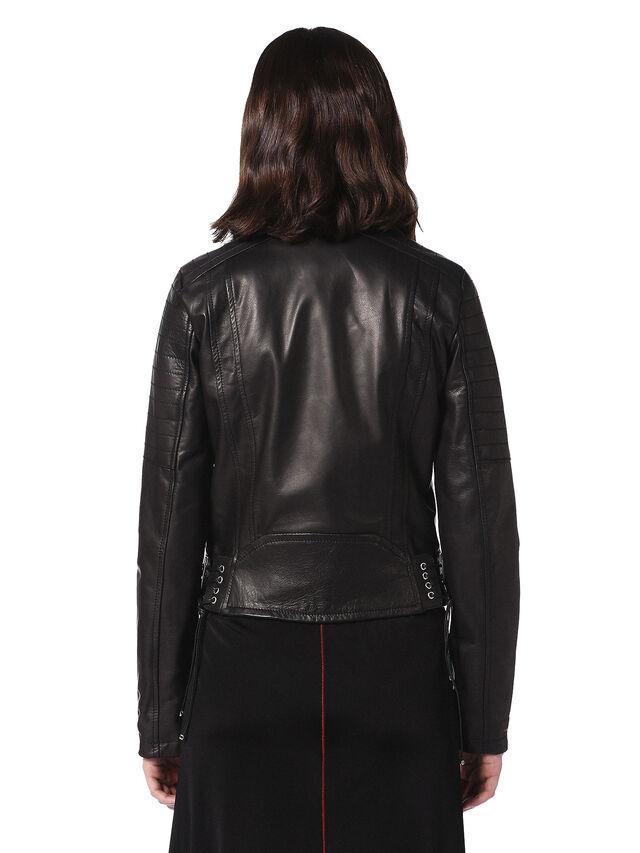 Diesel - LINEW, Black - Leather jackets - Image 2