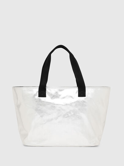 Diesel - F-BOLD SHOPPER II, Silver - Shopping and Shoulder Bags - Image 2