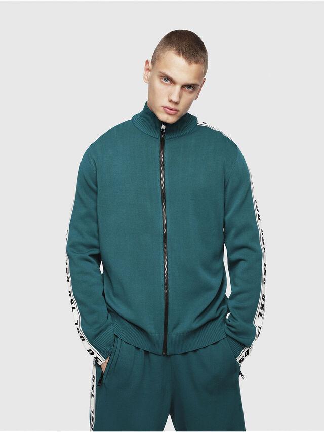 Diesel - K-KER-A, Dark Green - Knitwear - Image 1