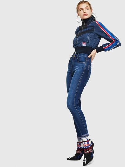 Diesel - Slandy High 089AJ, Dark Blue - Jeans - Image 5