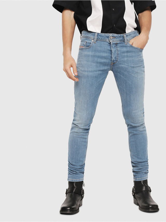 Diesel - Sleenker 086AK, Light Blue - Jeans - Image 1