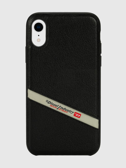 Diesel - DIESEL LEATHER CO-MOLD CASE FOR IPHONE XR, Black - Cases - Image 2