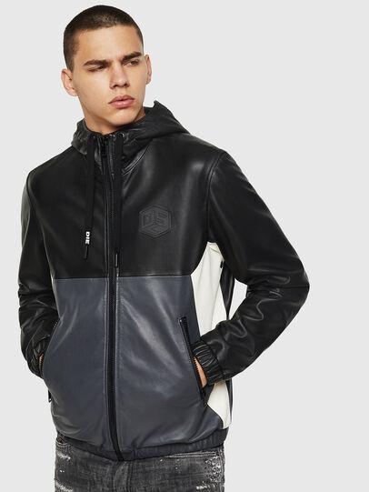 Diesel - L-CARR, Black - Leather jackets - Image 1