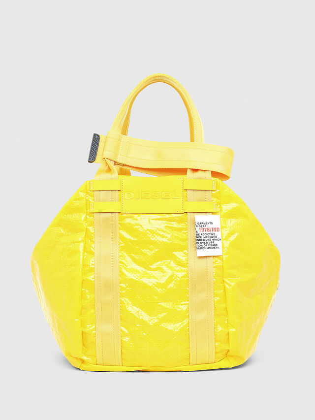 Diesel - D-CAGE SHOPPER, Yellow - Shopping and Shoulder Bags - Image 1