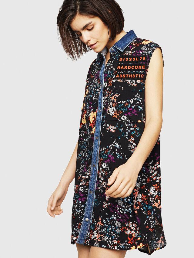 Diesel - D-ELISE, Multicolor/Black - Dresses - Image 1