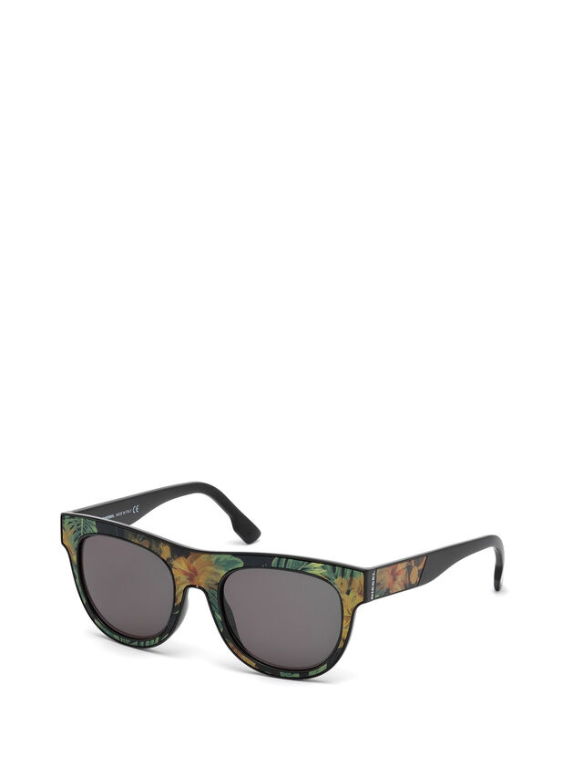 Diesel - DM0160, Black/Orange - Sunglasses - Image 4