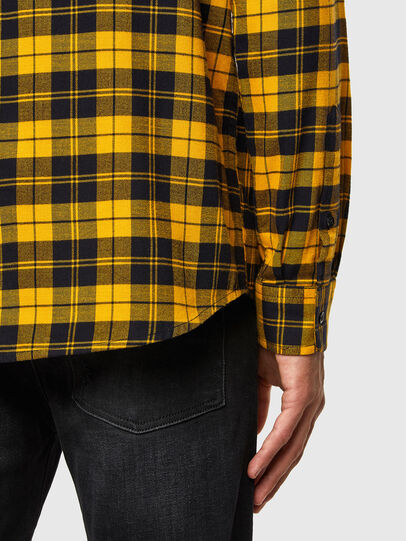 Diesel - S-MOI-CHK, Black/Yellow - Shirts - Image 3