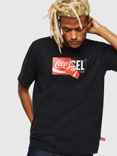 Diesel - CC-T-JUST-COLA, Black - T-Shirts - Image 1