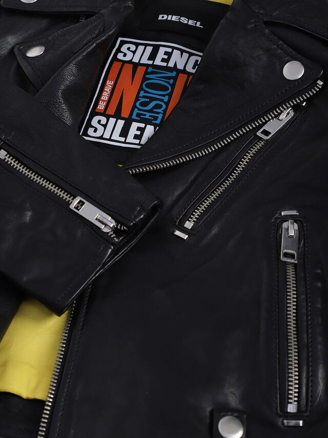 Diesel - JLWILL, Black Leather - Jackets - Image 3