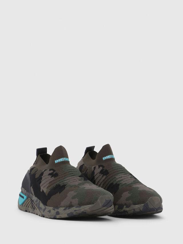 Diesel - S-KB ATHL SOCK, Green Camouflage - Sneakers - Image 2