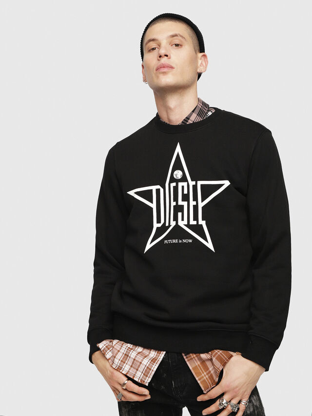 Diesel - S-GIR-YA, Black - Sweaters - Image 1