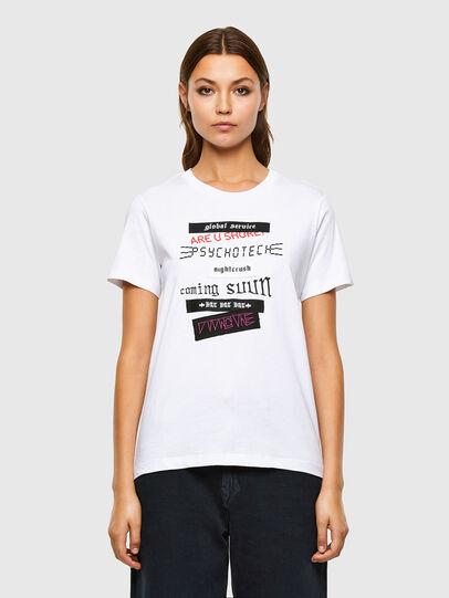 Diesel - T-SILY-V20, White - T-Shirts - Image 1