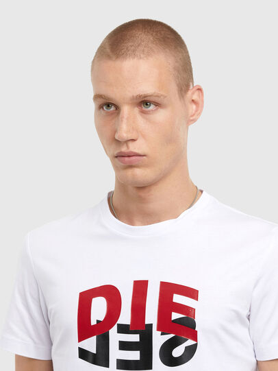 Diesel - T-DIEGOS-N22, White - T-Shirts - Image 3