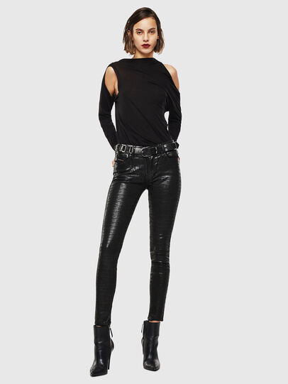 Diesel - Slandy 0094S, Black/Dark grey - Jeans - Image 7