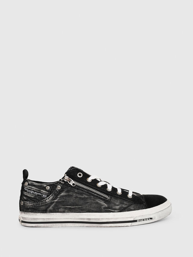 Diesel - EXPO-ZIP LOW, Black - Sneakers - Image 1