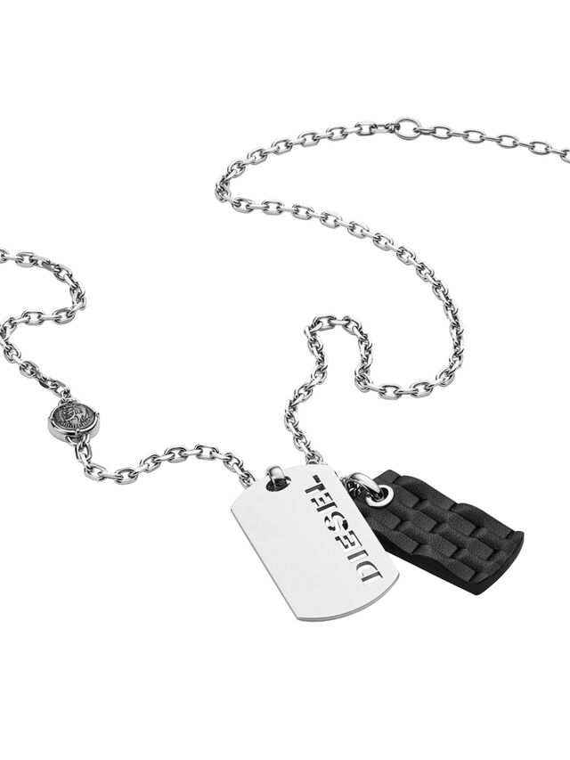Diesel NECKLACE DX1014, Silver - Necklaces - Image 2