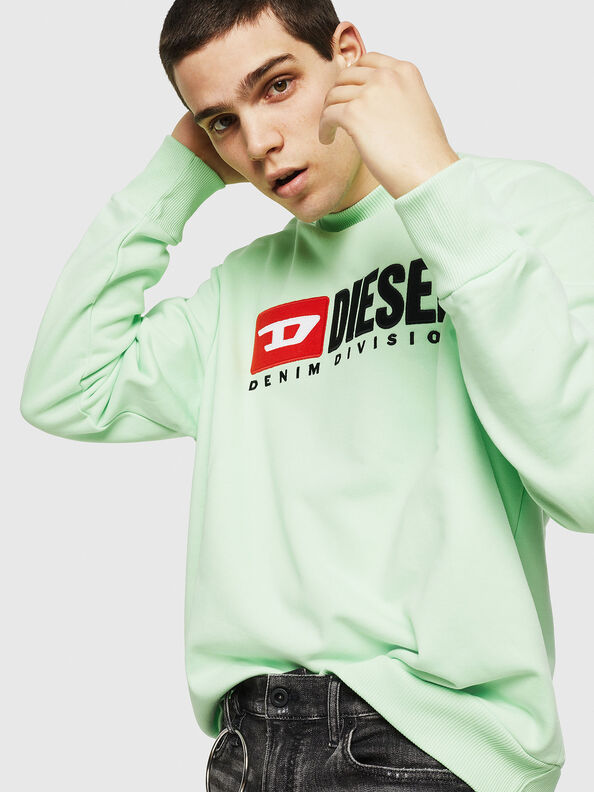 S-CREW-DIVISION, Green Fluo - Sweaters