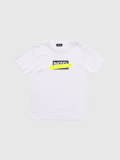Diesel - TJUSTDIE, White - T-shirts and Tops - Image 1