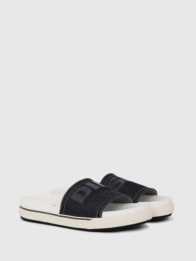 Diesel - SA-GRAND SLIDE, White/Blue - Sandals - Image 3