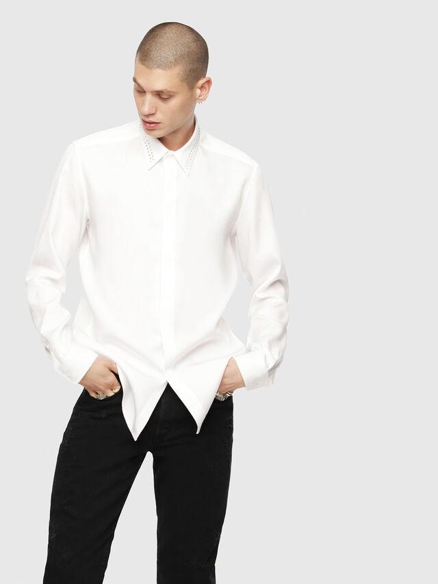 Diesel - S-TUDS, White - Shirts - Image 1