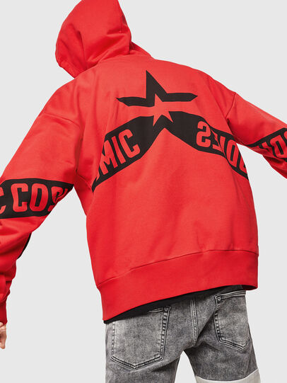 Diesel - S-ALBY-ZIP-A1, Fire Red - Sweaters - Image 2