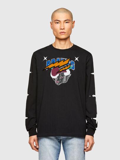 Diesel - CL-T-JUST-LS-O, Black - T-Shirts - Image 1