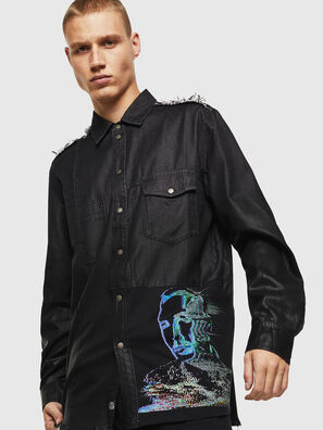 D-FILLY, Black/Dark grey - Denim Shirts