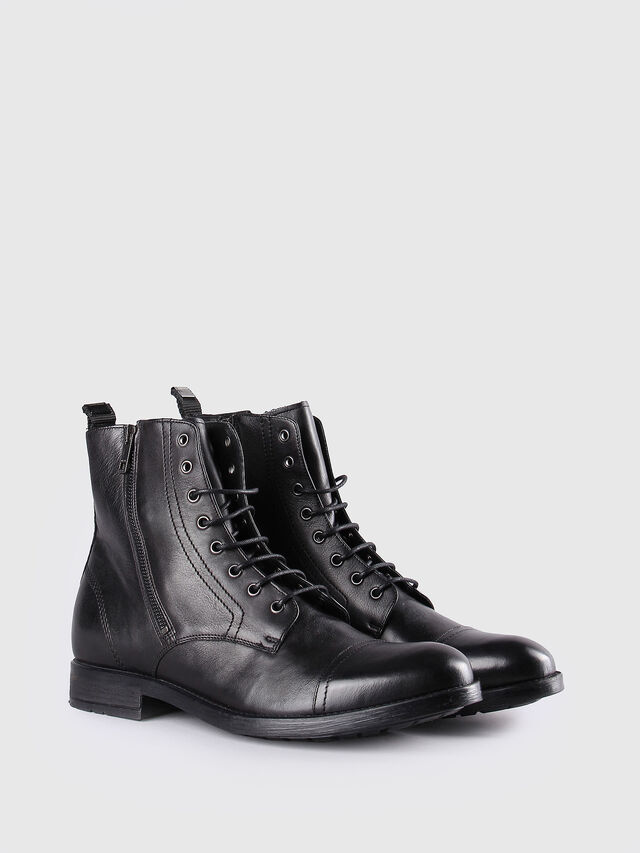Diesel D-KALLIEN, Black Leather - Boots - Image 2