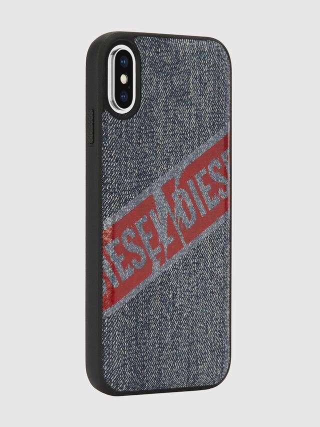 Diesel - VINTAGE DENIM IPHONE X CASE, Blue Jeans - Cases - Image 6