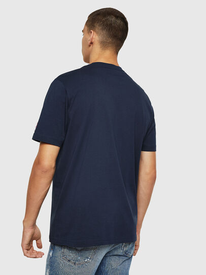 Diesel - T-JUST-DIVISION-D, Dark Blue - T-Shirts - Image 2
