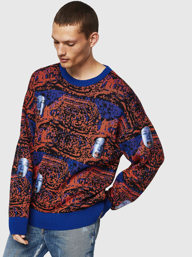K-FACE, Red/Blue - Knitwear