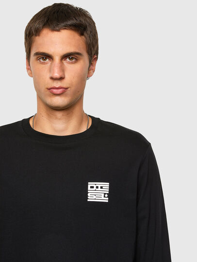 Diesel - T-JUST-LS-N61, Black - T-Shirts - Image 4