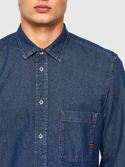 Diesel - D-BILLY, Dark Blue - Denim Shirts - Image 3