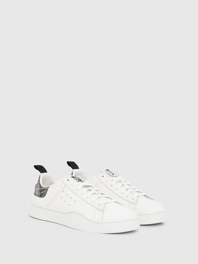 Diesel - S-CLEVER LOW W, White/Silver - Sneakers - Image 2