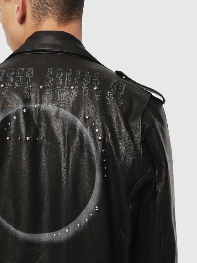 Diesel - SE-LEANDRO, Black Leather - Leather jackets - Image 4