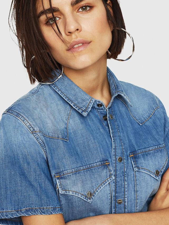 Diesel - DE-BLANCHE-SL, Blue Jeans - Dresses - Image 3