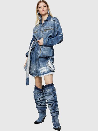 Diesel - DE-EPPIE, Light Blue - Dresses - Image 8