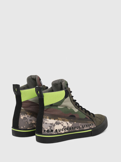 Diesel - S-DVELOWS MID, Green Camouflage - Sneakers - Image 3