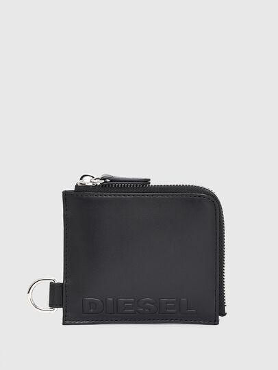 Diesel - L-ZIP CHAIN, Black - Zip-Round Wallets - Image 1
