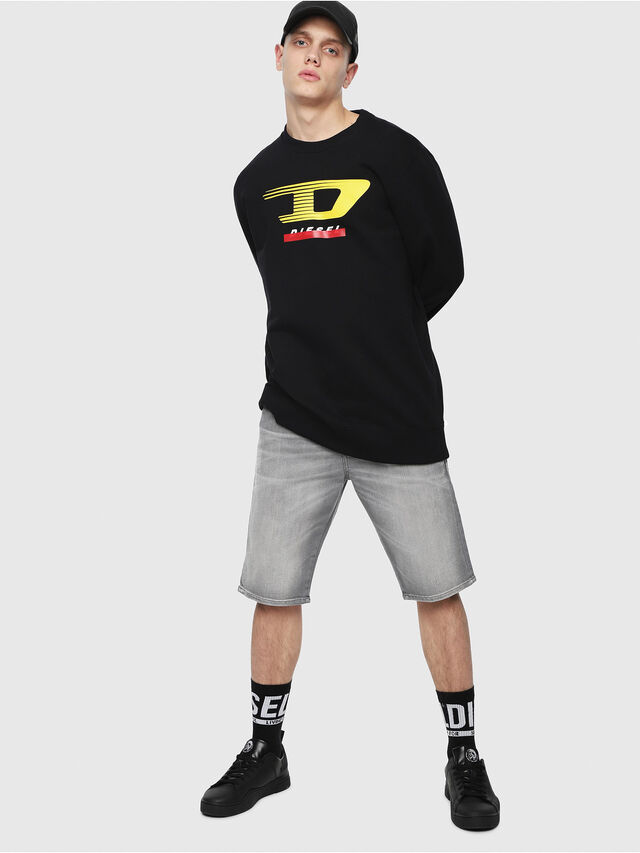 Diesel - THOSHORT, Grey Jeans - Shorts - Image 4