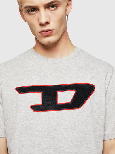 Diesel - T-JUST-DIVISION-D, Grey - T-Shirts - Image 3