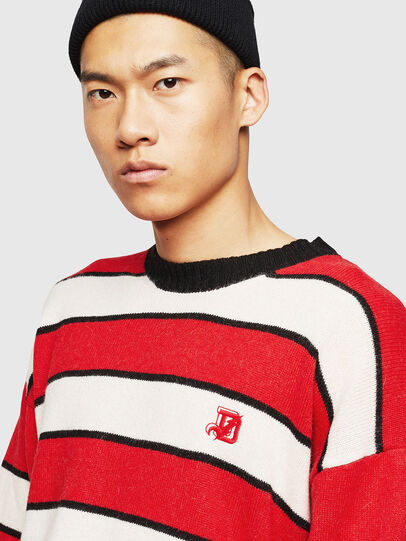Diesel - K-LOVERY, Red/White - Knitwear - Image 3
