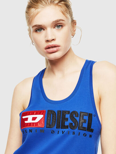 Diesel - T-SILK, Brilliant Blue - Tops - Image 3