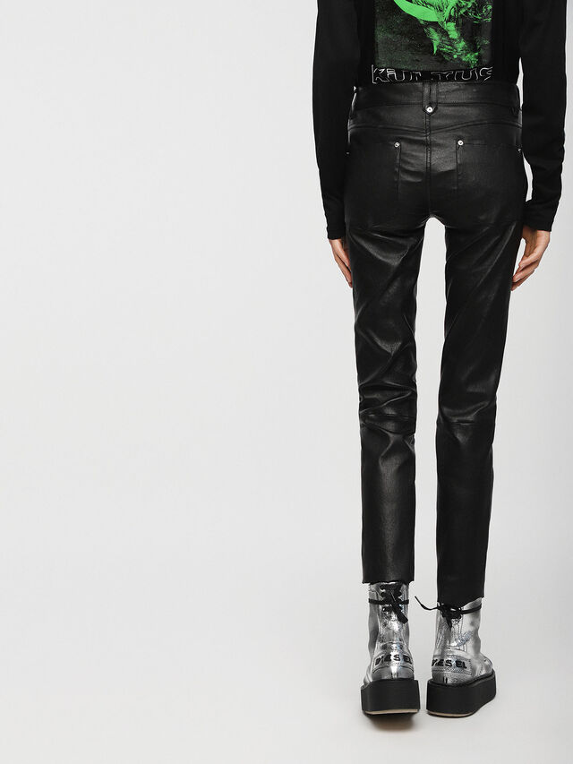 Diesel - L-TIME-A, Black Leather - Pants - Image 2